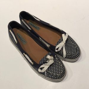 Sperry Top Sider shoes.  Polka dot.  Size 8.5